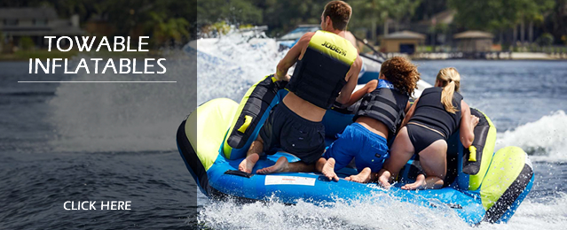 Discounted Towable Inflatable Tubes and Ringos, Boat Ski Tubes and Banana Boats, Water Toys and Discounted Towable Toys
